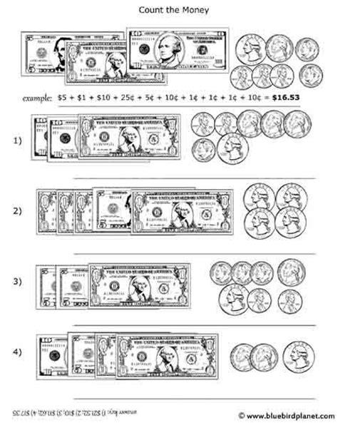 4th Grade Math Worksheets Money by Free Printable Black White Worksheets For Preschool