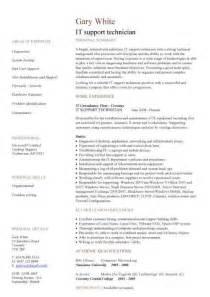 IT support technician CV sample, job description, CVs