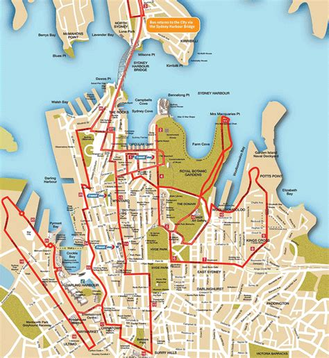 sydney map printable sydney city map documento t 237 tulo