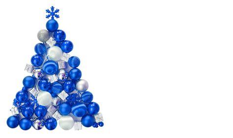 weihnachten weihnachtsbaum aus blauen kugeln