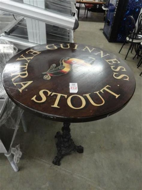 high top bar table bases guinness stout high top bar table w ornate base