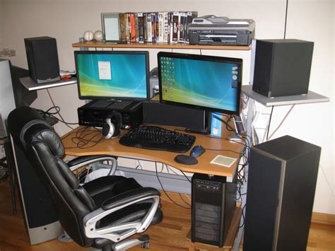multi monitor computer desks 5 accessories to make your pc gaming easier
