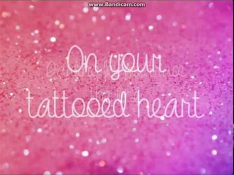 tattooed heart spanish lyrics ariana grande tattooed heart with lyrics youtube