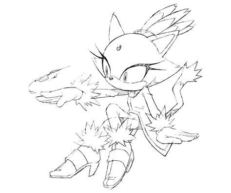 Blaze The Cat Coloring Pages sonic generations blaze the cat power surfing
