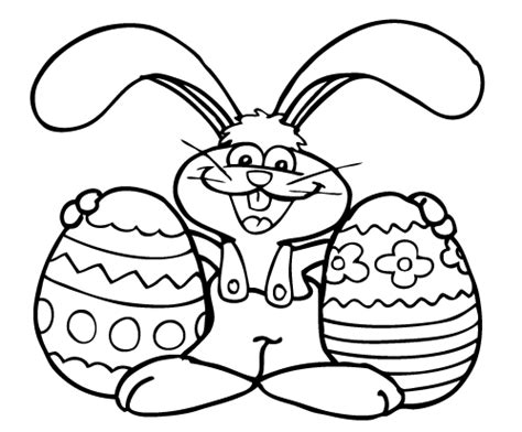easter bunny coloring pages pdf easter images to colour for kids easter day pinterest