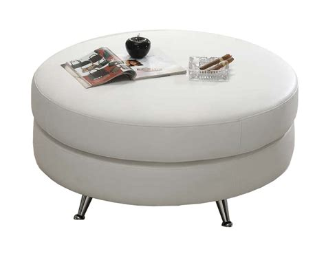 large white leather ottoman modern line furniture commercial furniture custom made