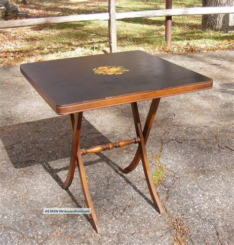 Wood Folding Card Table Folding Card Table Vintage Folding Card Table With Three Chairs By Stakmore Co Ship Custom