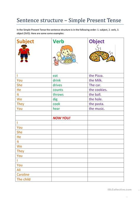 pattern of simple tenses free worksheets 187 sentence pattern worksheets with answers