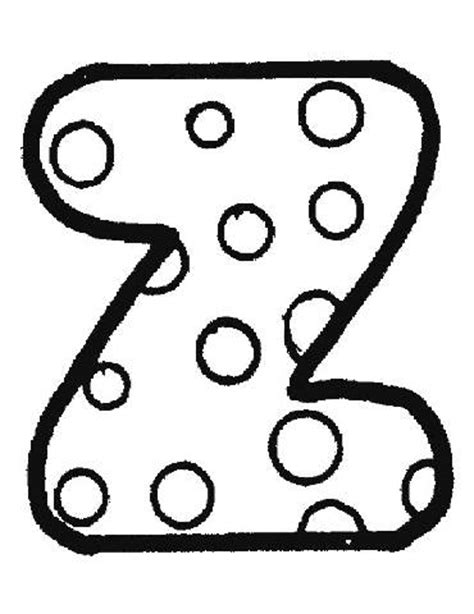 transmissionpress bubble letter z coloring pages