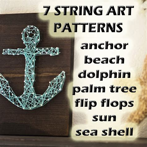 string pattern validation string art patterns 7 templates beach palm tree flip