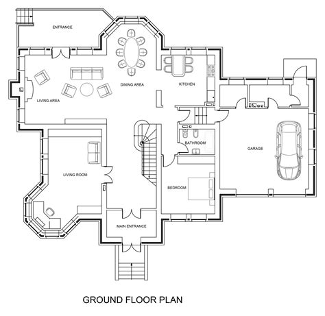 ground floor plan dwg net cad blocks and house plans