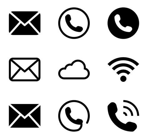 Home Design Center Phone Calls email icons 2 634 free vector icons