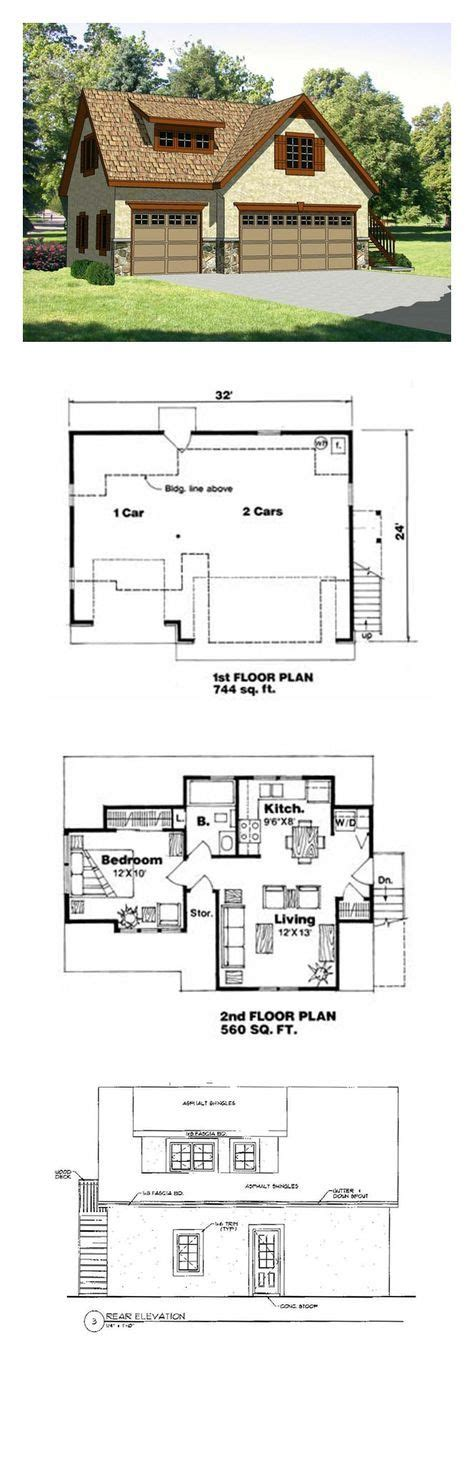 garage plans with living area garage apartment plan 94342 total living area 560 sq