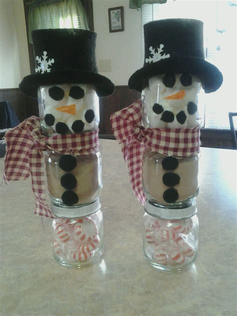 baby food jar snowmen crafts baby food jars