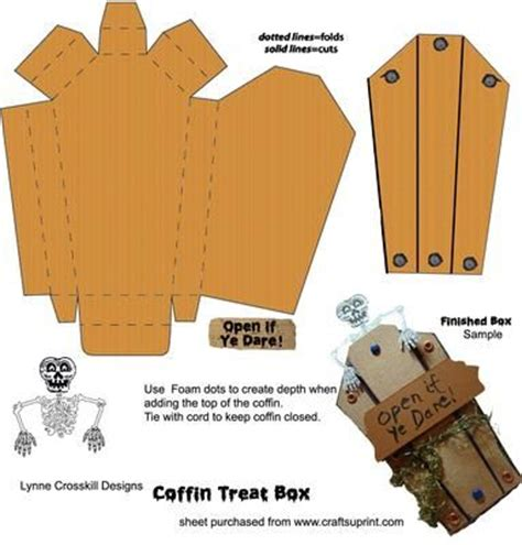 How To Make A Paper Coffin - best 20 coffin ideas on