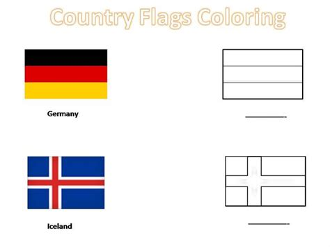 Country Flags To Color by Country Flags Coloring Pages For