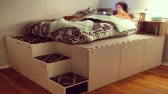 Diy Platform Bed With Steps Ikea Hack Platform Bed Diy