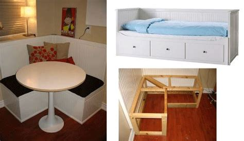 ikea hack breakfast nook parts of a hemnes daybed turned into a breakfast nook see