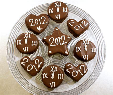 new year chocolate cookies new year s clock cookies