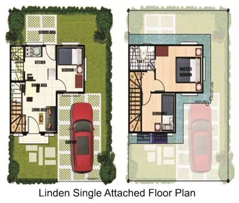 Linden Floor Plan affordable items house and lot for sale in binan laguna