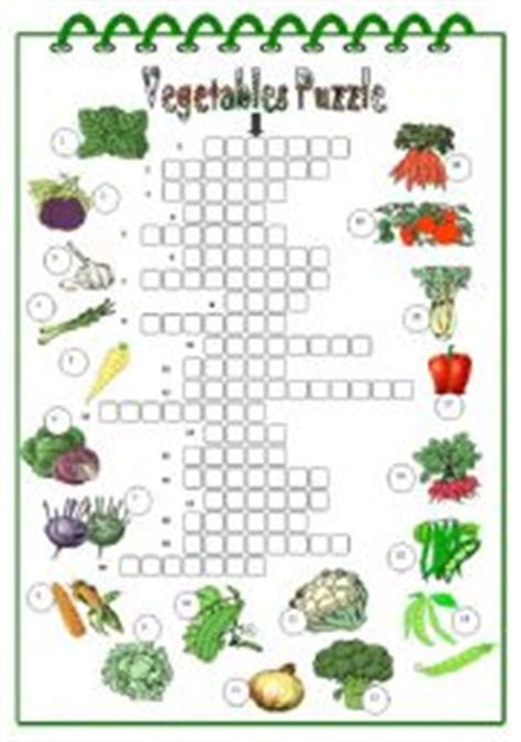 printable crossword puzzles vegetables vegetables crossword worksheet by martinasvabova