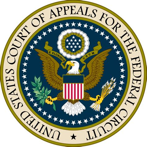 United States Federal Court Search File Seal Of The United States Court Of Appeals For The Federal Circuit Svg