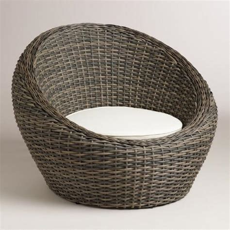 Patio Egg Chair All Weather Wicker Formentera Egg Outdoor Chair World Market