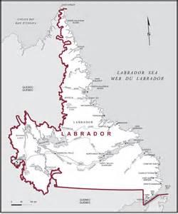 Labrador Canada Map by Labrador Maps Corner Elections Canada Online