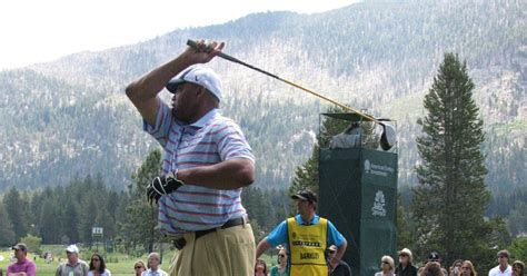 charles barkley golf swing snl american century chionship tahoe celebrity golf week