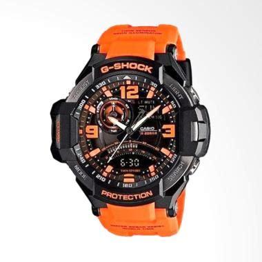Jam Tangan Pria Wanita Gshock Ga 1000 Pilot Blue Black jual casio g shock ga 1000 4adr orange jam tangan pria harga kualitas terjamin