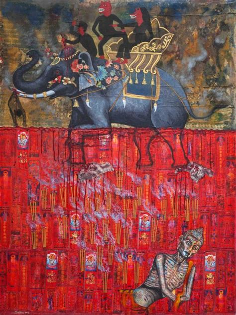 blood and earth modern interview with cambodian artist leang seckon painting past and present