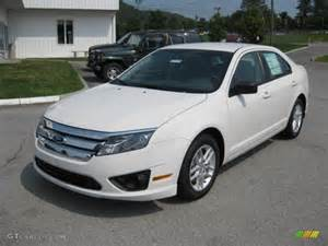 white suede 2012 ford fusion s exterior photo 53128995