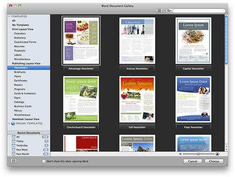 themes and templates microsoft office for mac 2011 features screenshots