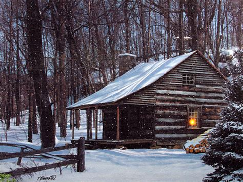 Snowy Cabins by Snowy Cabin In The Woods Would To Spend