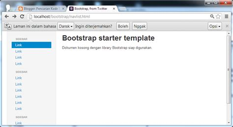 bootstrap starter template mendesain navlist dengan bootstrap layout navigator list
