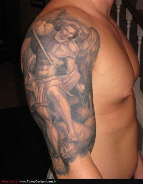 evil angel tattoo designs guardian tattoos for on arms tatto design of