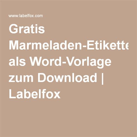 Etiketten Download by Gratis Marmeladen Etiketten Als Word Vorlage Zum Download