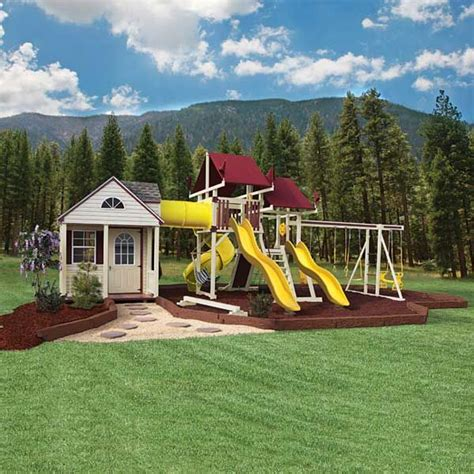 swing set playhouse 25 best ideas about swing sets on pinterest kids swing
