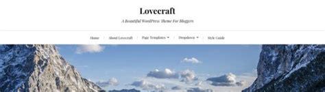 theme lovecraft blog 55 free and responsive wordpress themes wpmu dev
