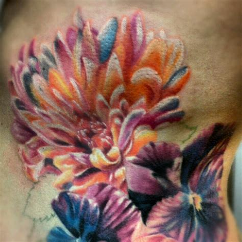 chrysanthemum flower tattoo chrysanthemum the contrast and depth of this