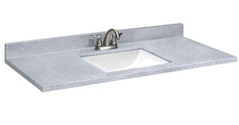Woodnote Vanity Top by Style Selections Sq2 Pepper Solid Surface Single Sink
