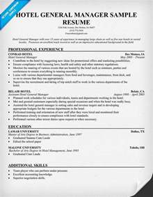 General Manager Resume Exle by Hotel General Manager Resume Resumecompanion Resume Sles Across All Industries