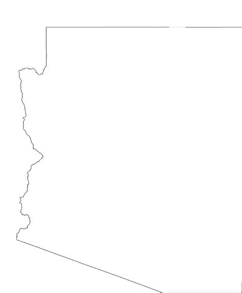 arizona state map outline arizona state outline map free