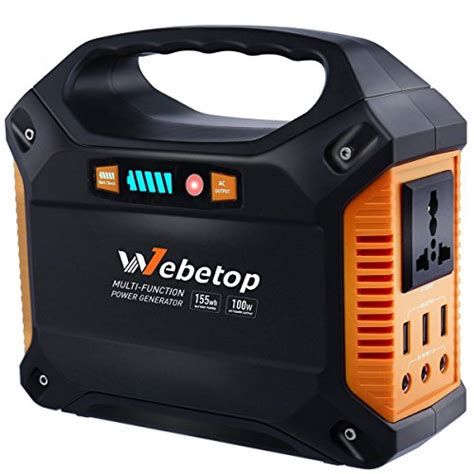 battery powered outlet for webetop portable generator power inverter battery 100w