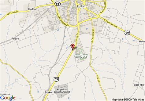 map lufkin texas map of comfort suites lufkin lufkin
