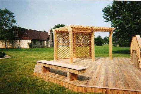 pergola sun screen custom wood decks and fencing