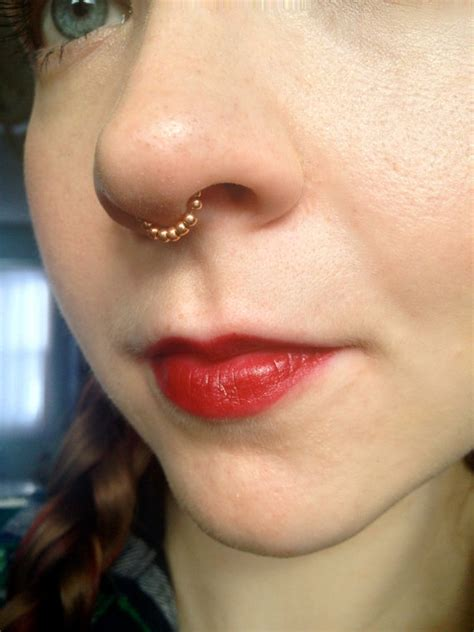 Dress It Up Button Sun Springkles septum beaded chain wrap style different gauges by andyschains