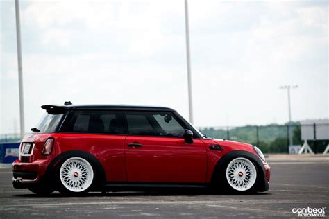 slammed mini cooper mini copper bbs slammed wheels pinterest mini