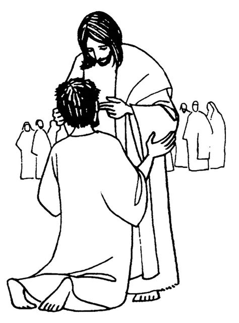 coloring page jesus heals deaf jesus coloring clipart best