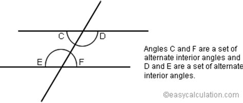Definition Of Alternate Interior Angles by What Is Alternate Interior Angles Definition And Meaning